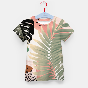 Palm Leaf Summer Glam #1 #tropical #decor #art  T-Shirt für kinder thumbnail image