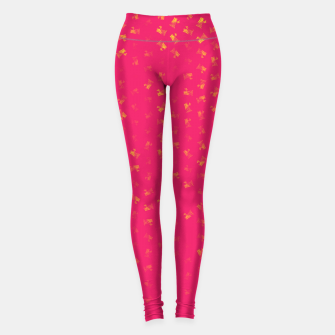 virgo zodiac sign pattern py Leggings thumbnail image