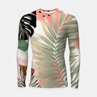 Palm Leaf Summer Glam #1 #tropical #decor #art  Longsleeve rashguard thumbnail image