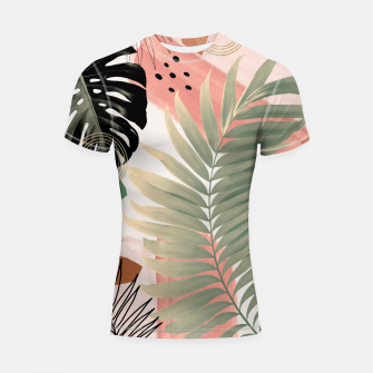 Miniaturka Palm Leaf Summer Glam #1 #tropical #decor #art  Shortsleeve rashguard, Live Heroes