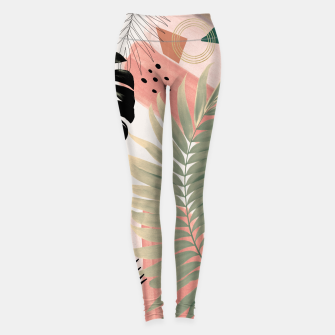 Miniaturka Palm Leaf Summer Glam #1 #tropical #decor #art  Leggings, Live Heroes