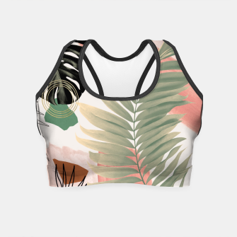 Miniaturka Palm Leaf Summer Glam #1 #tropical #decor #art  Crop Top, Live Heroes