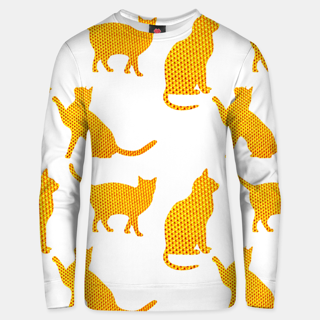 Image of Golden cats- White Sudadera unisex - Live Heroes