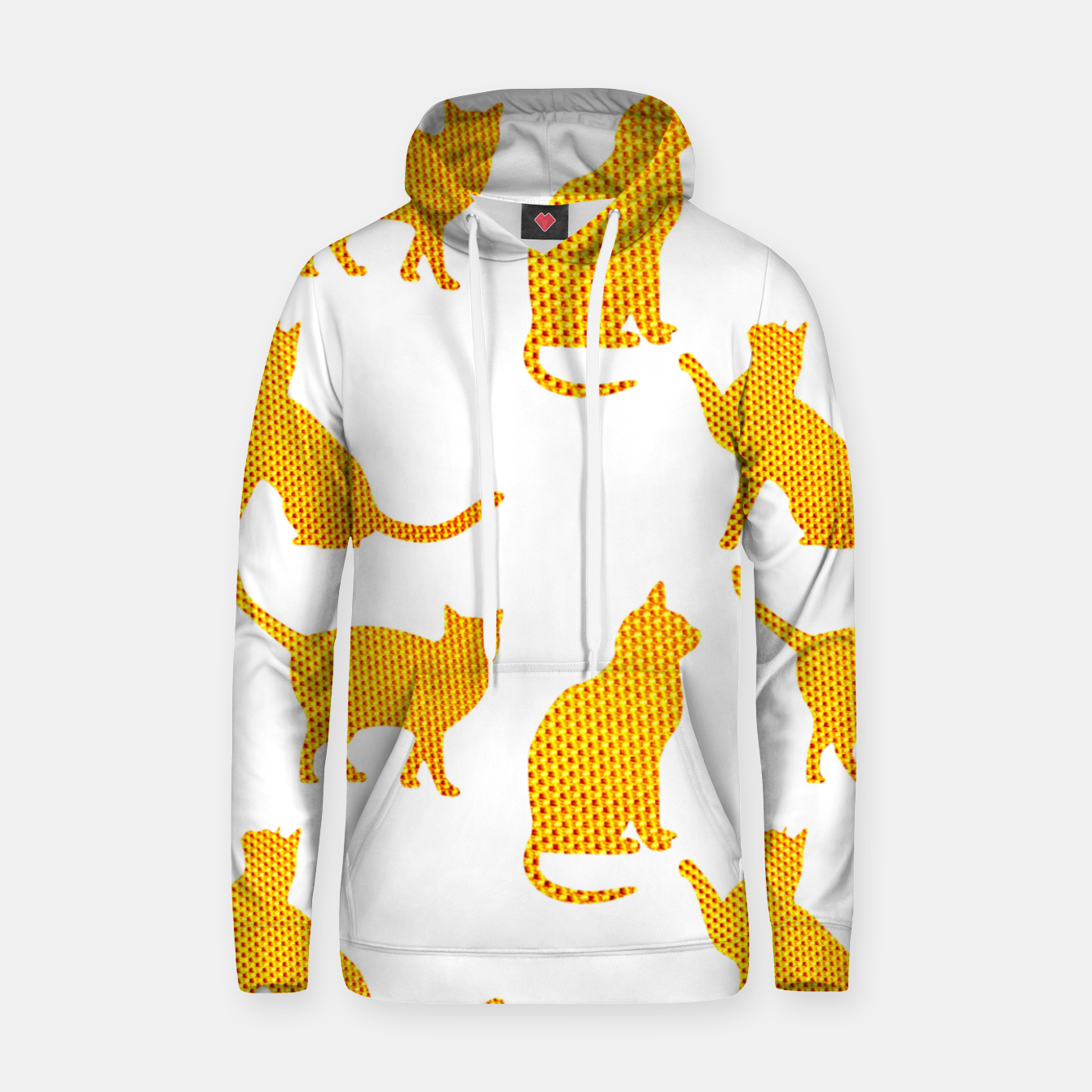 Image of Golden cats- White Sudadera con capucha - Live Heroes