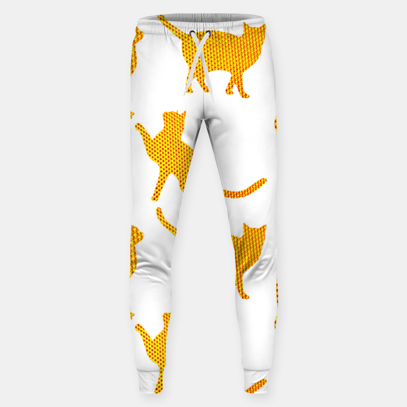 Image of Golden cats- White Pantalones de chándal  - Live Heroes
