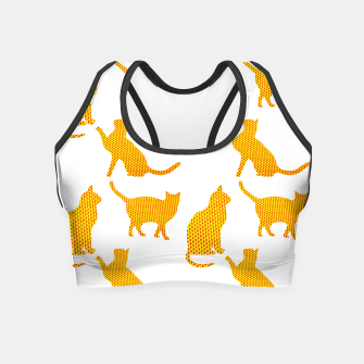 Golden cats- White Crop Top thumbnail image