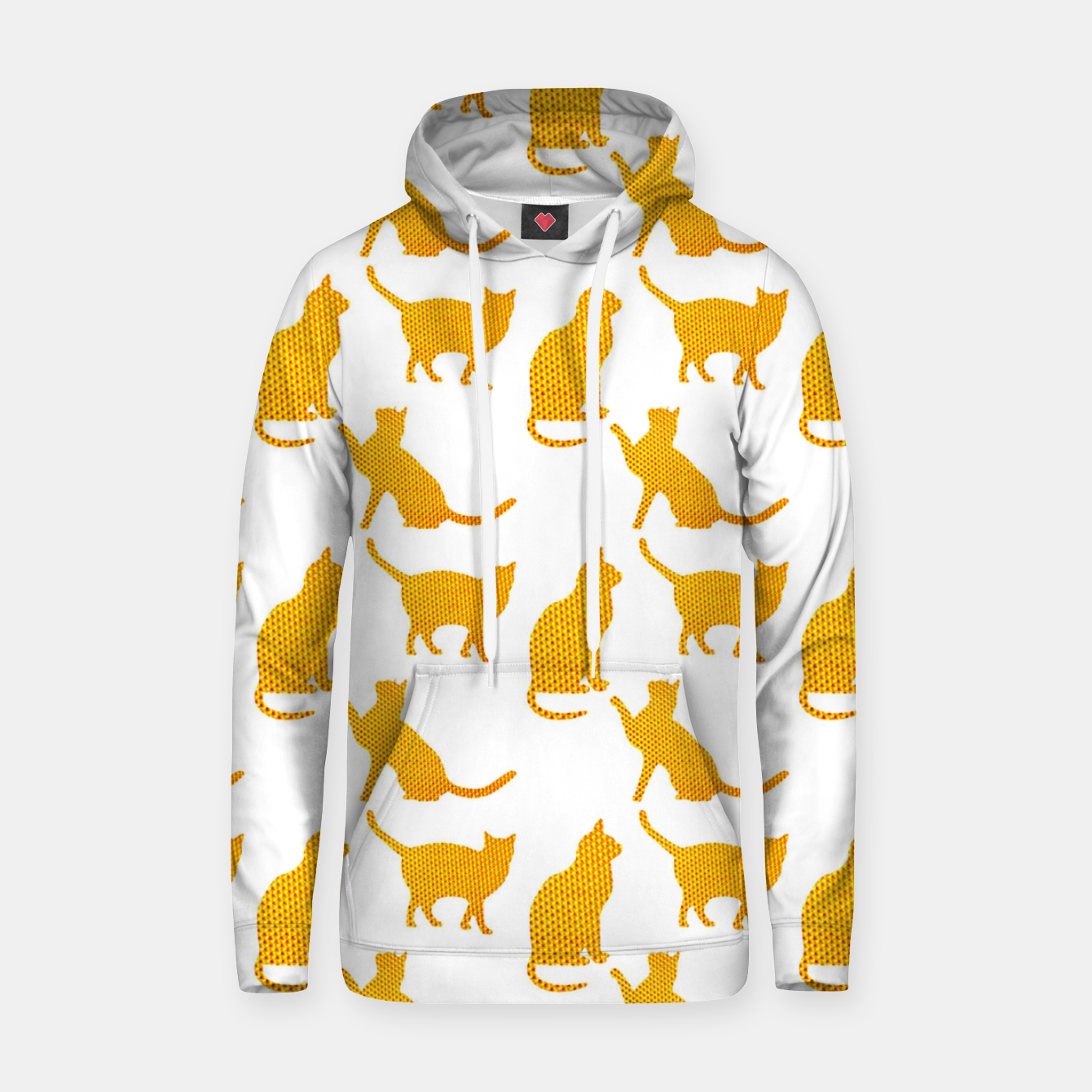 Image of Golden cats-White 1  Sudadera con capucha - Live Heroes