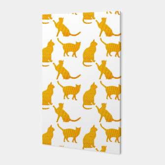 Golden cats-White 1  Canvas thumbnail image