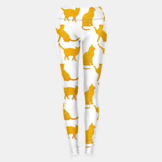 Golden cats-White 1  Leggings thumbnail image