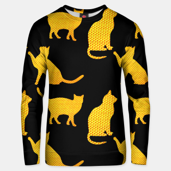 Golden cats-Black Sudadera unisex thumbnail image