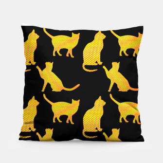 Golden cats-Black Almohada thumbnail image