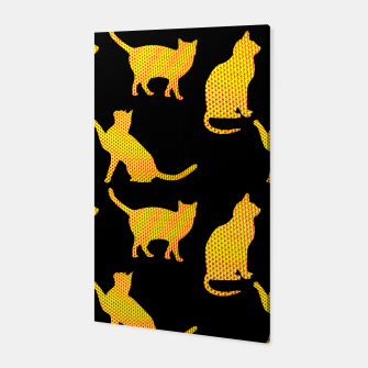 Golden cats-Black Canvas thumbnail image