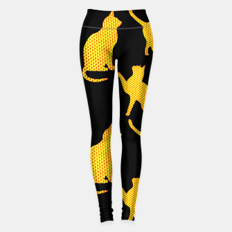 Golden cats-Black Leggings thumbnail image