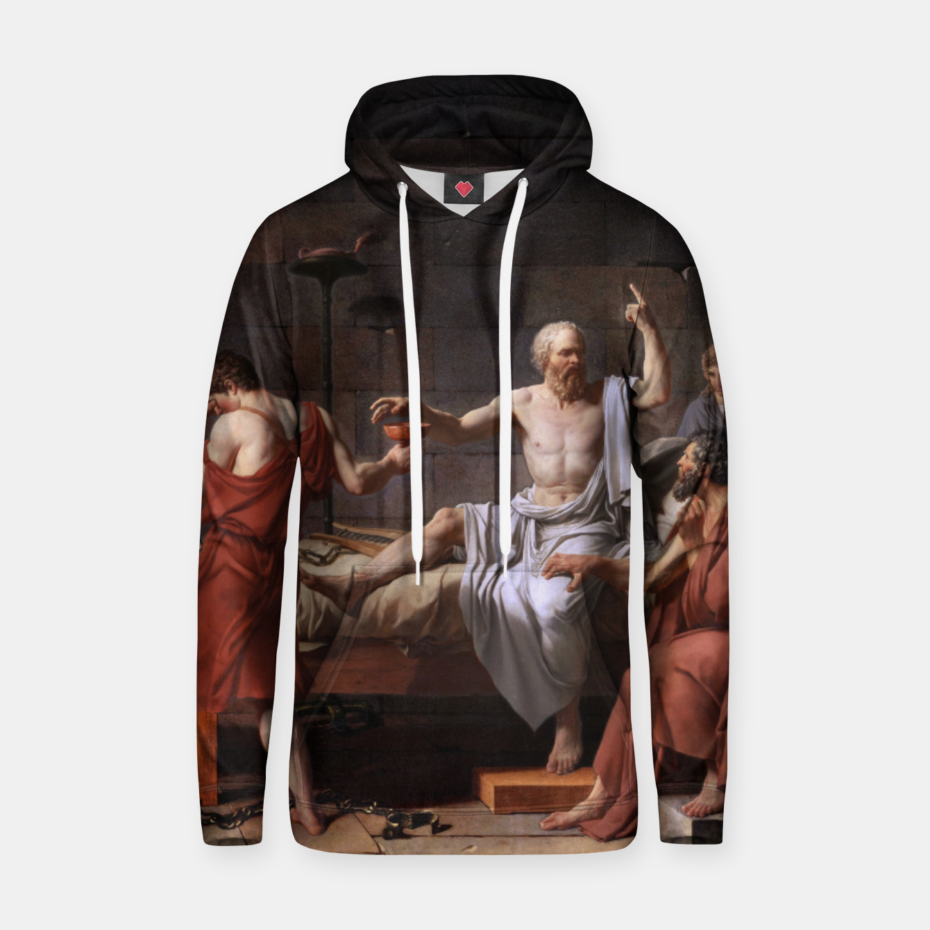 Image of The Death of Socrates by Jacques Louis David Hoodie - Live Heroes