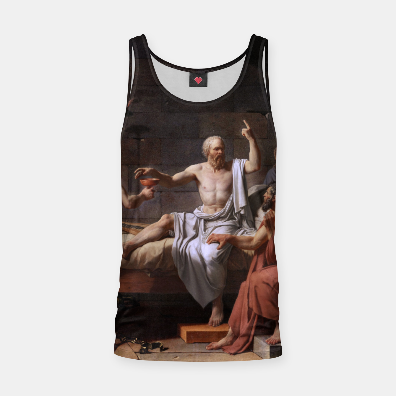 Image of The Death of Socrates by Jacques Louis David Tank Top - Live Heroes