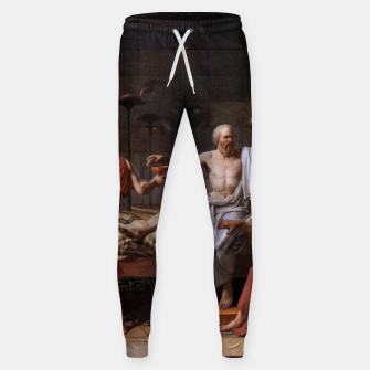 Thumbnail image of The Death of Socrates by Jacques Louis David Sweatpants, Live Heroes