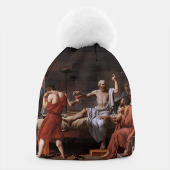 Thumbnail image of The Death of Socrates by Jacques Louis David Beanie, Live Heroes