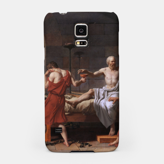 Thumbnail image of The Death of Socrates by Jacques Louis David Samsung Case, Live Heroes
