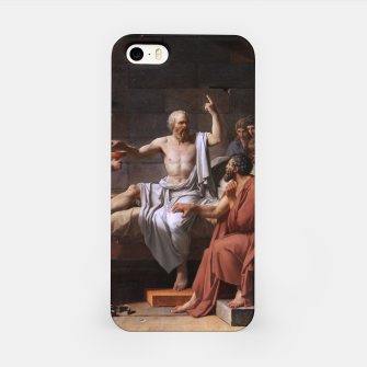 Thumbnail image of The Death of Socrates by Jacques Louis David iPhone Case, Live Heroes