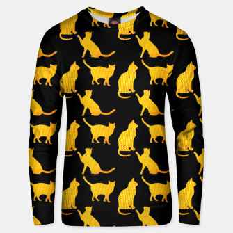 Golden cats-Black 1 Sudadera unisex thumbnail image