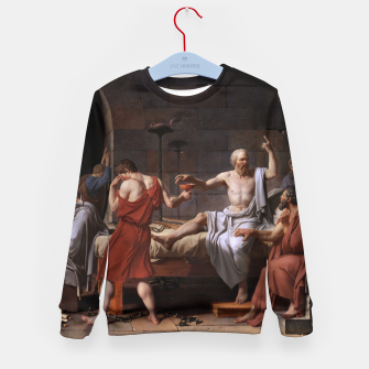 Thumbnail image of The Death of Socrates by Jacques Louis David Kid's sweater, Live Heroes