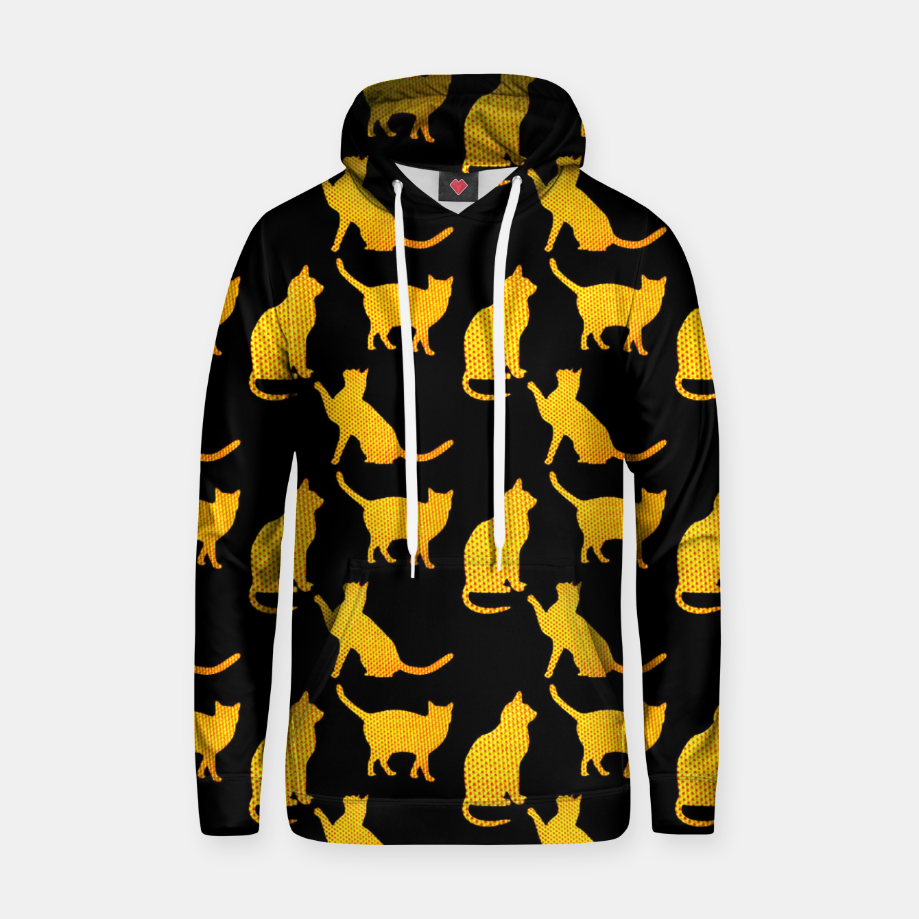 Image of Golden cats-Black 1 Sudadera con capucha - Live Heroes