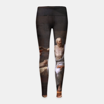 Thumbnail image of The Death of Socrates by Jacques Louis David Girl's leggings, Live Heroes