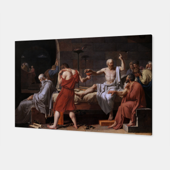 Thumbnail image of The Death of Socrates by Jacques Louis David Canvas, Live Heroes