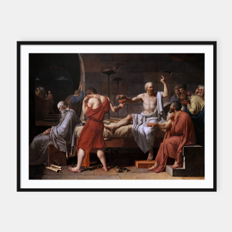 Thumbnail image of The Death of Socrates by Jacques Louis David Framed poster, Live Heroes