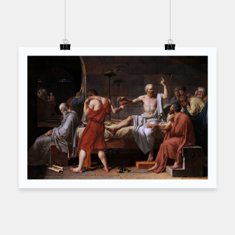 Thumbnail image of The Death of Socrates by Jacques Louis David Poster, Live Heroes