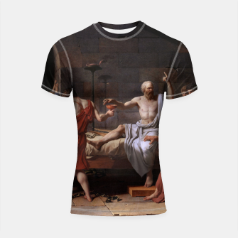 Thumbnail image of The Death of Socrates by Jacques Louis David Shortsleeve rashguard, Live Heroes