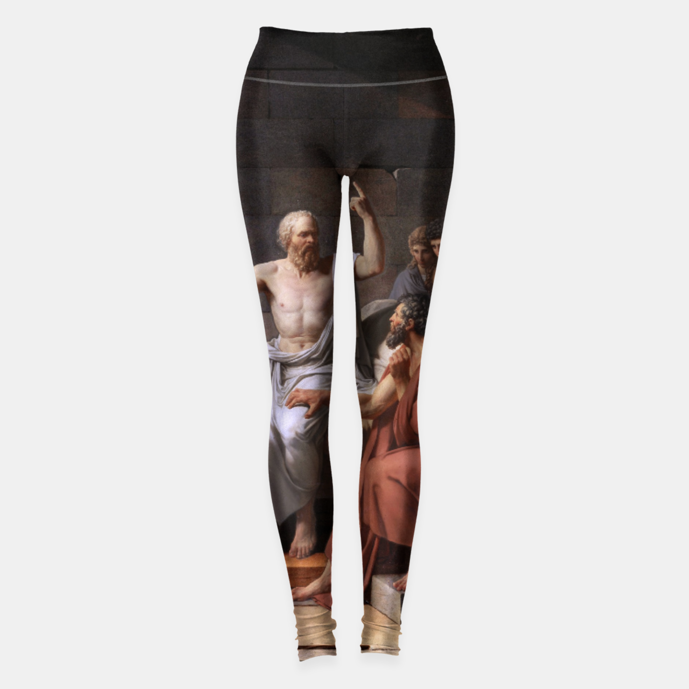 Image of The Death of Socrates by Jacques Louis David Leggings - Live Heroes