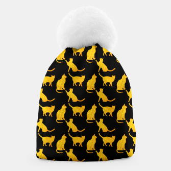 Golden cats-Black 1 Gorro thumbnail image