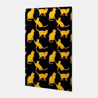 Golden cats-Black 1 Canvas thumbnail image