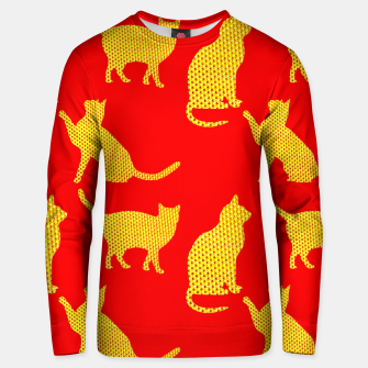 Thumbnail image of Golden cats-Red Sudadera unisex, Live Heroes