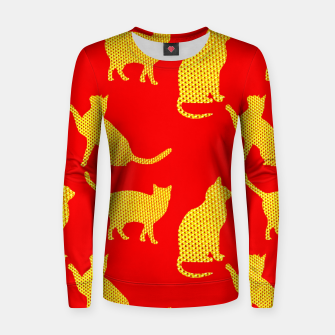 Golden cats-Red Sudadera para mujeres thumbnail image