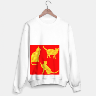 Golden cats-Red Sudadera regular thumbnail image