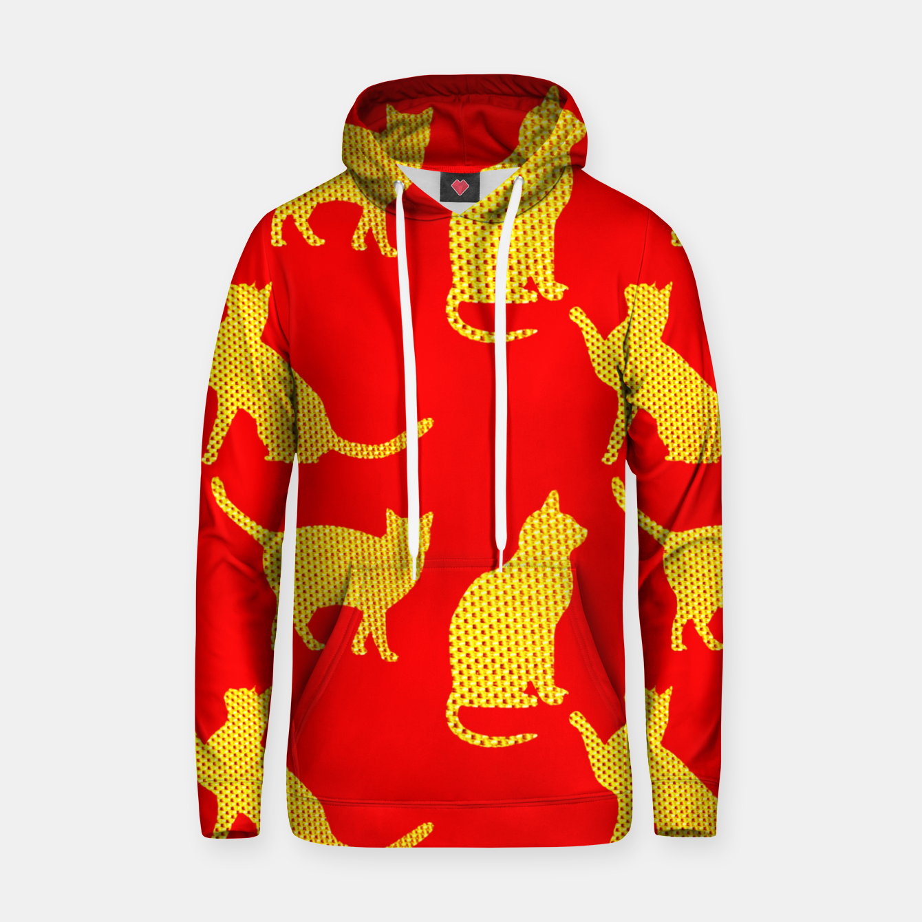 Image of Golden cats-Red Sudadera con capucha - Live Heroes