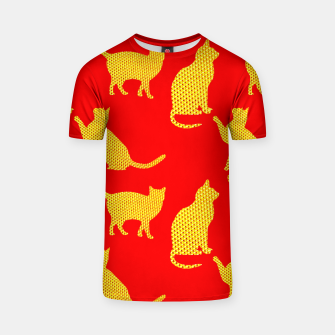 Golden cats-Red Camiseta thumbnail image