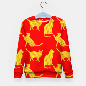 Thumbnail image of Golden cats-Red Sudadera para niños, Live Heroes