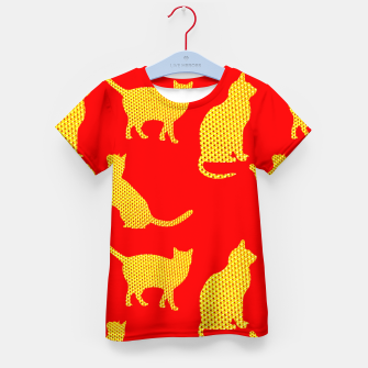 Golden cats-Red Camiseta para niños thumbnail image