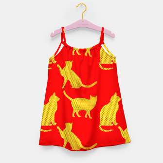 Thumbnail image of Golden cats-Red Vestido para niñas, Live Heroes