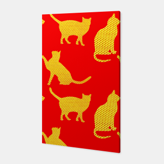 Golden cats-Red Canvas thumbnail image