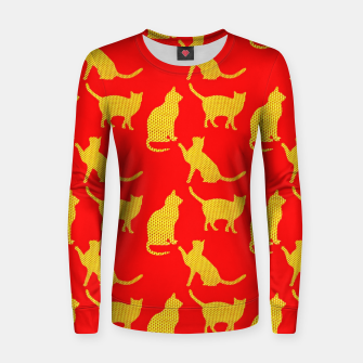 Thumbnail image of Golden cats-Red 1 Sudadera para mujeres, Live Heroes