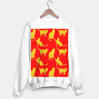 Thumbnail image of Golden cats-Red 1 Sudadera regular, Live Heroes