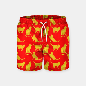 Thumbnail image of Golden cats-Red 1 Pantalones de baño, Live Heroes