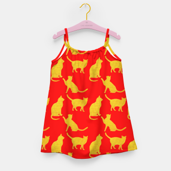 Thumbnail image of Golden cats-Red 1 Vestido para niñas, Live Heroes