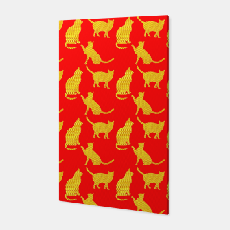 Thumbnail image of Golden cats-Red 1 Canvas, Live Heroes