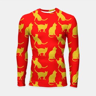 Thumbnail image of Golden cats-Red 1 Longsleeve rashguard, Live Heroes