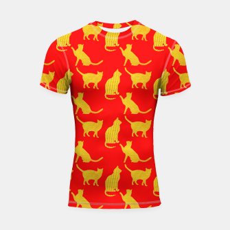 Thumbnail image of Golden cats-Red 1 Shortsleeve rashguard, Live Heroes